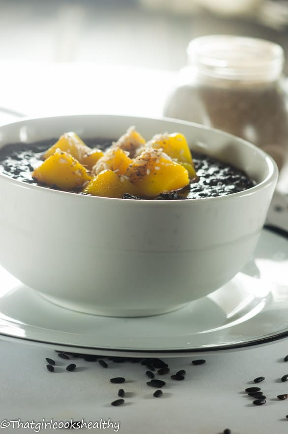 Cardamom black rice pudding4