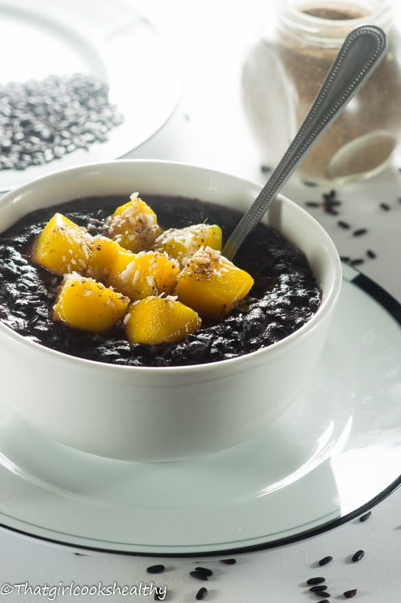 Cardamom black rice pudding5
