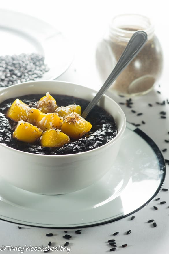 Cardamom black rice pudding6