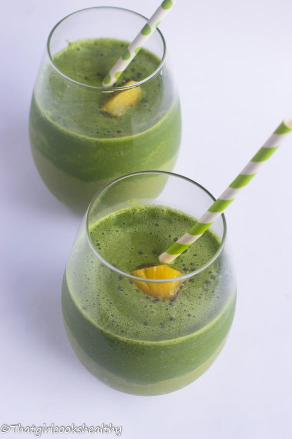 Green monster pineapple smoothie4