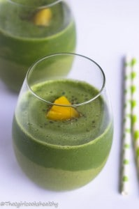 Green monster pineapple smoothie