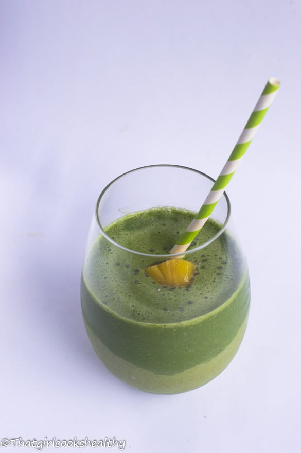 Green monster pineapple smoothie6