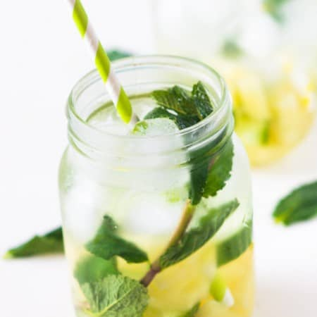 Pineapple mint infused water2 1 450x450 - Pineapple mint infused water