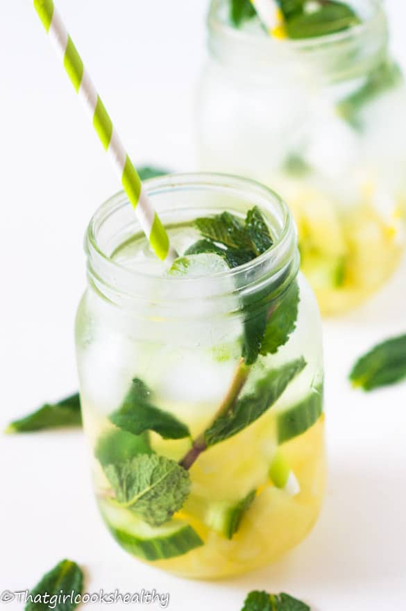 Pineapple mint infused water2