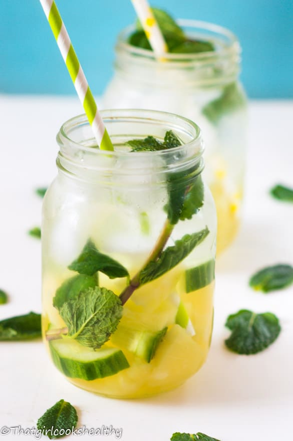 Pineapple mint infused water3
