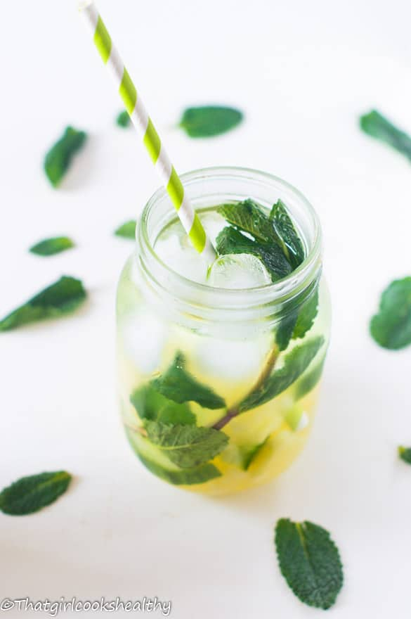 Pineapple mint infused water5
