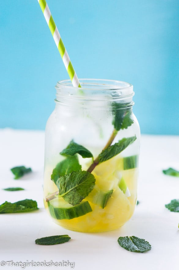Pineapple mint infused water6
