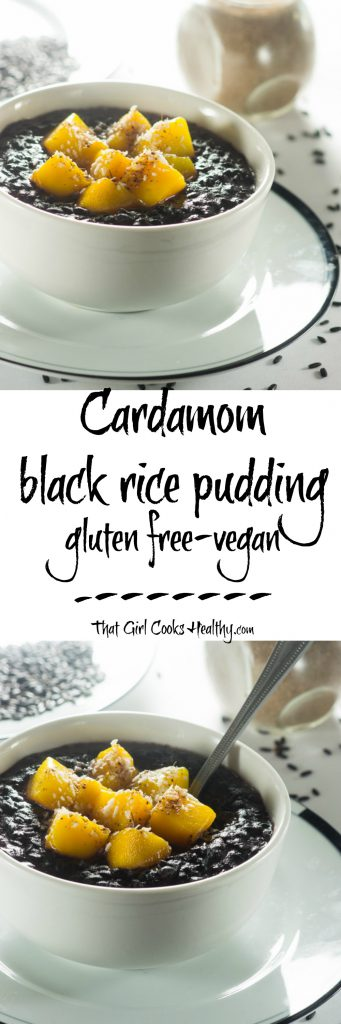 Cardamom black rice pudding