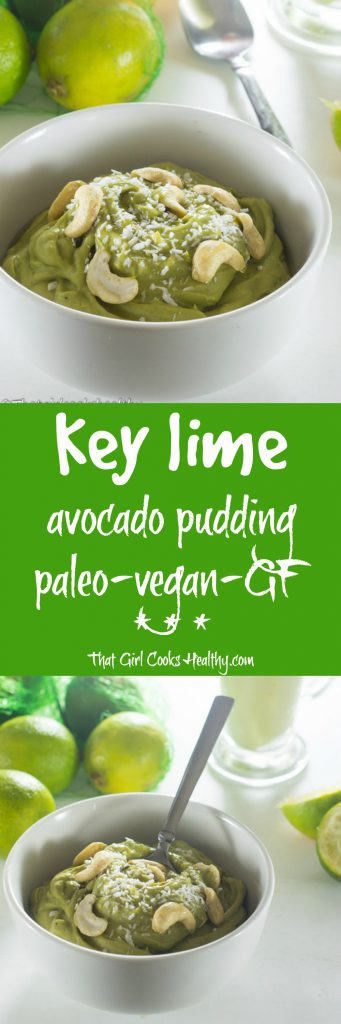 key lime avocado pudding