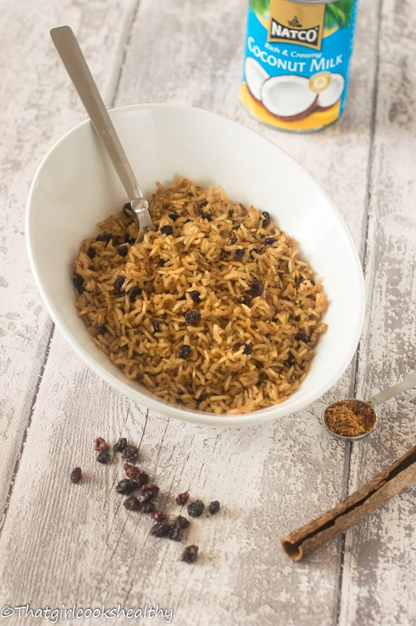 Arroz con coco (Colombian coconut rice) - That Girl Cooks Healthy