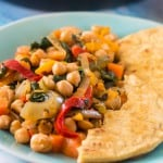 Vegetable and chickpea stew3 150x150 - Vegan chickpea stew recipe