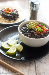 Authentic Cuban black beans (frijoles negros)