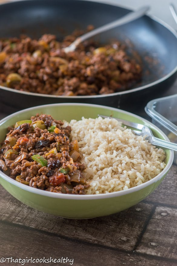 Cuban style picadillo5 - Freezer friendly meals