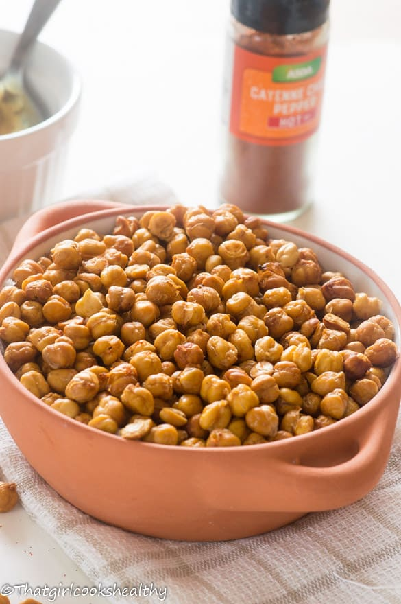 Oven roasted cayenne chickpeas