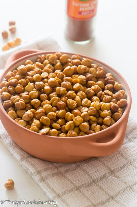 Oven roasted cayenne pepper chickpeas2