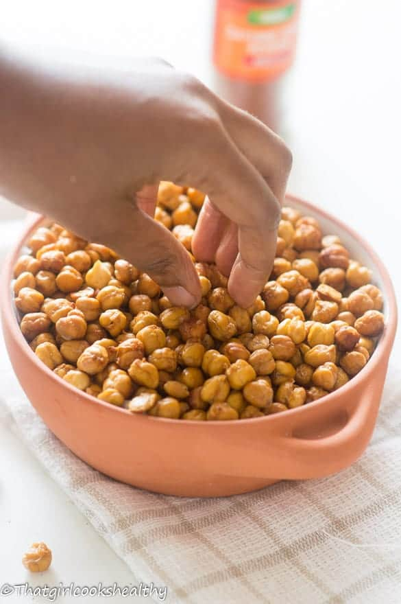 Oven roasted cayenne pepper chickpeas3