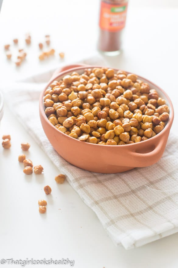 Oven roasted cayenne pepper chickpeas4