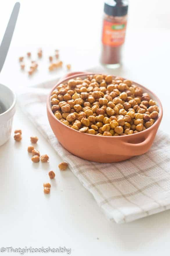 Oven roasted cayenne pepper chickpeas5