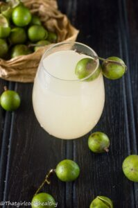 Guinep juice (Spanish lime, kenep)