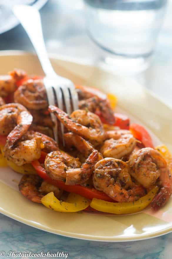 Sweet spicy shrimp recipe - That Girl Cooks Healthy