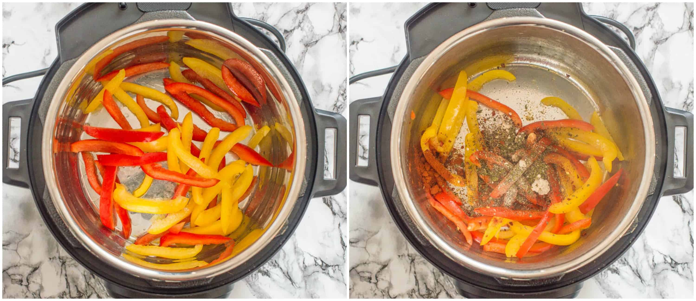 Sweet chili shrimp steps 1-2