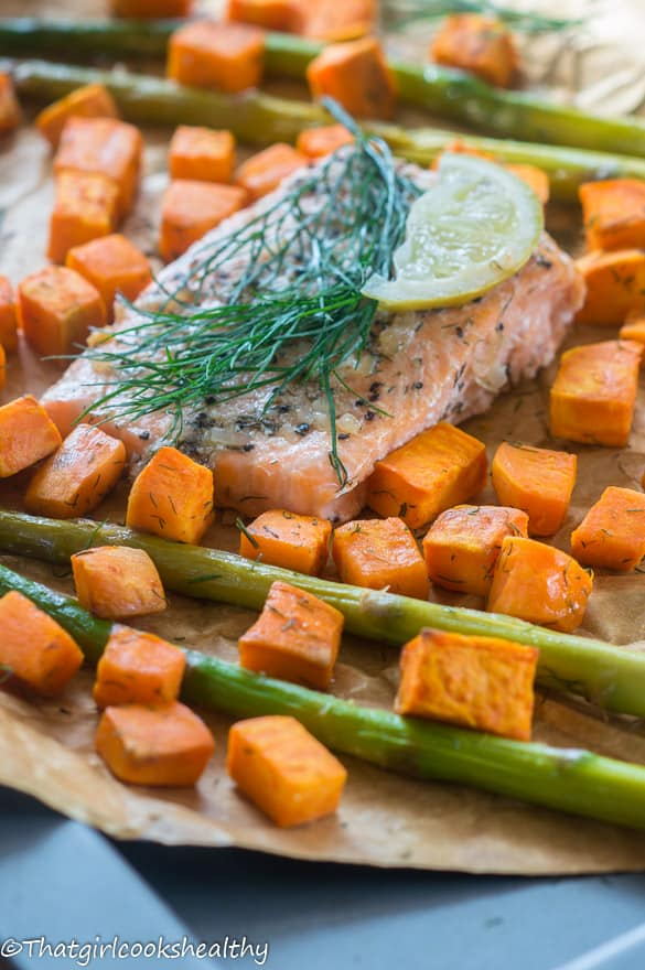 Baked salmon with asparagus3