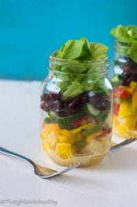 Tropical mason jar salad