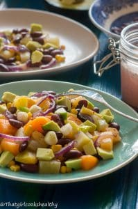 High protein kidney bean cassava salad