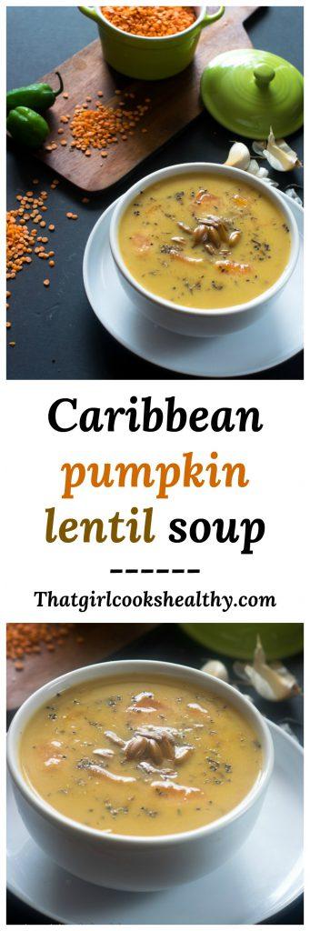 Caribbean pumpkin lentil soup 341x1024 - Caribbean pumpkin lentil soup (Vegan style)