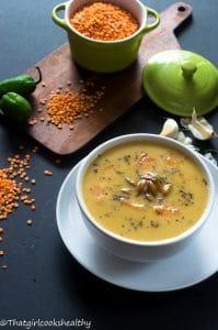 Caribbean pumpkin lentil soup (Vegan style)