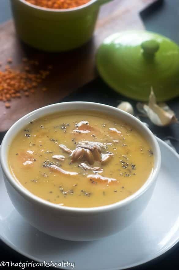 Pumpkin lentil soup 2
