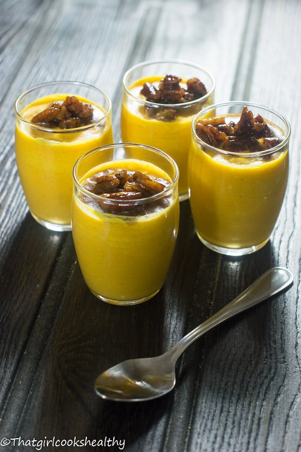 Pumpkin mousse with candied pecans2