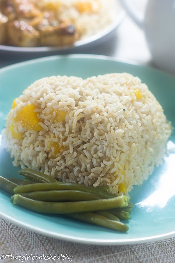 Mango coconut rice