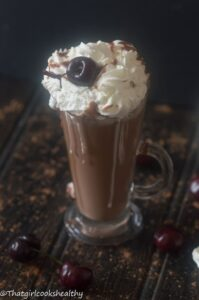 Cherry hot chocolate (vegan)