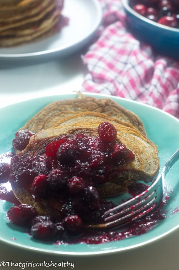 Cranberry orange pancakes5