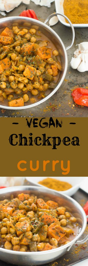 Chickpea curry 1 341x1024 - Vegan chickpea curry