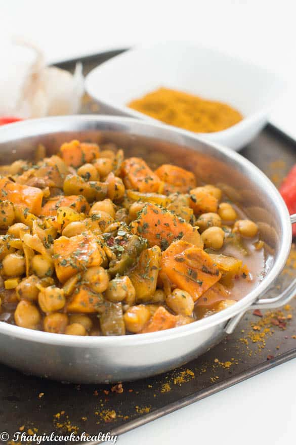 Chickpea curry2 - Vegan chickpea curry recipe