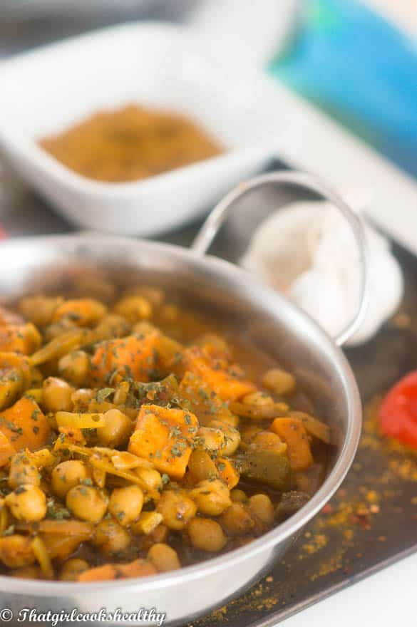 Chickpea curry4 - Vegan chickpea curry recipe