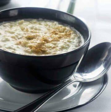 Close up of the porridge