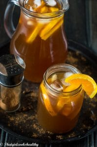 Cinnamon orange iced tea