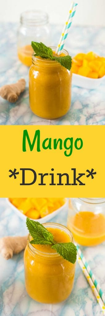 mango drink pin Image 341x1024 - Simple mango drink recipe