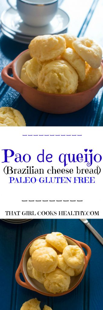 Brazilian cheese bread pin 341x1024 - Brazilian cheese bread recipe (Pão de Queijo)