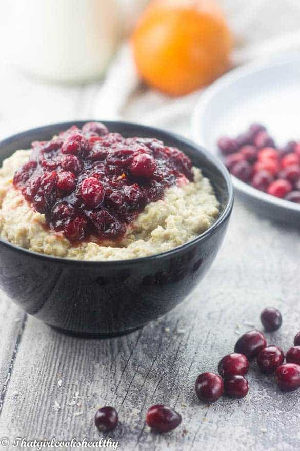 Cranberry-sauce-oatmeal