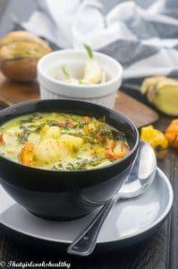 Coconut shrimp soup (dairy free)