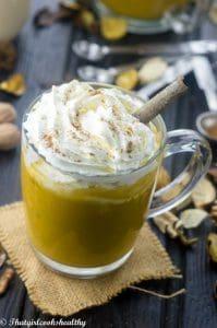 Pumpkin spice vegan drink