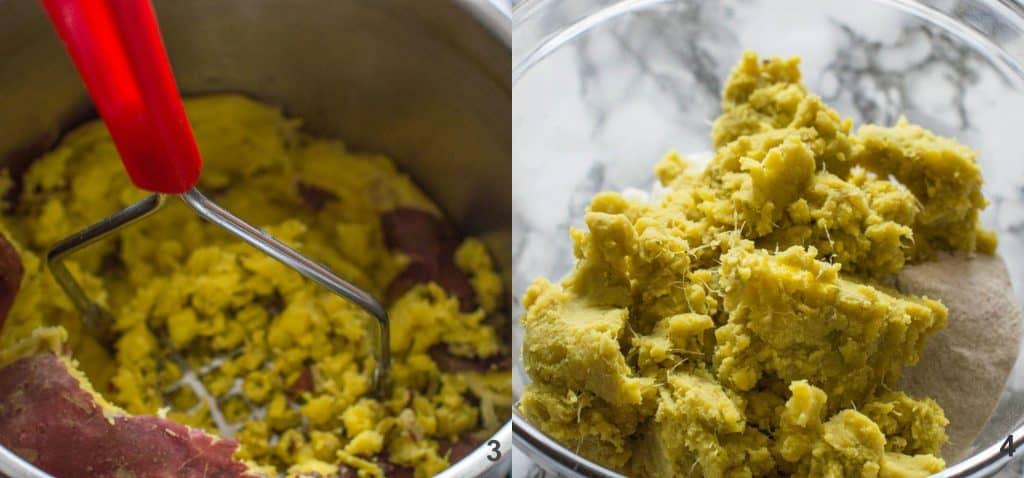 How to make potato farls steps 3-4