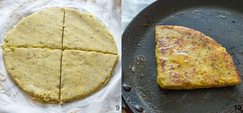 How to make potato farls steps 9-10