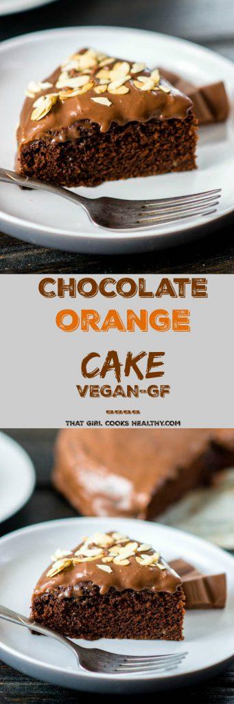 vegan chocolate orange cake pin