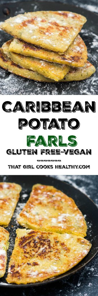 caribbean potato farls pin 341x1024 - Potato farls recipe (Caribbean style)