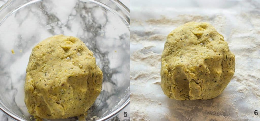how to make potato farls steps 5-6
